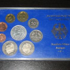 Set monetarie Germania 1974, F , Stuttgart