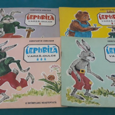 IEPURILĂ VARZĂ-DULCE/ CONSTANTIN CUBLEȘAN/4 VOL./ILUSTRAȚII E. DRAGANOVICI/1984