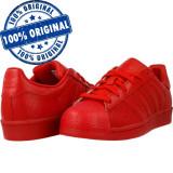 Adidasi barbat Adidas Originals Superstar Adicolor - adidasi originali - piele, 46 2/3, Rosu, Piele naturala
