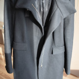 Palton negru Zara, marimea XL