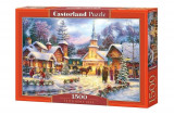 Puzzle Iarna in sat, 1500 piese, castorland
