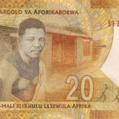 Bancnota Africa de Sud 20 Rand 2018 - PNew UNC ( SERIE NOUA - centenar Mandela )