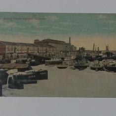 Carte Postala veche - Galati. Vapor, Vapoare Vapore Stationare In Docuri  1913