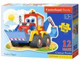 Puzzle maxi Escavator, 12 piese, castorland