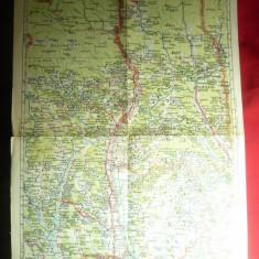 Harta Zonei Ramnicu-Valcea, 1946 ,dim.= 32x47cm ,Autor Prof.MD Moldoveanu
