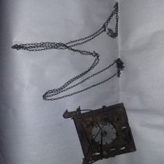 Mecanism vechi de ceas de perete cu lant,Transport GRATUIT