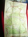 Harta Zonei Oradea 1946 ,dim.= 32x47cm ,Autor  Prof.MD Moldoveanu,Minister Infor