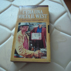 Caseta video VHS originala - A fost odată ȋn vest (Charles Bronson) 1968, Italia, Italiana