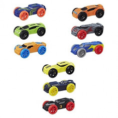 Set 3 masinute de spuma Nerf Nitro, 6-8 ani, Plastic, Hasbro