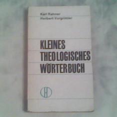 Kleines theologisches worterbuch-Karl Ramner,Herbert Vorgrimler