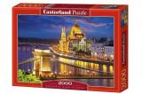 Puzzle Budapesta in amurg, 2000 piese, castorland