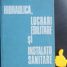 Hidraulica lucrari edilitare si instalatii sanitare Giurconiu