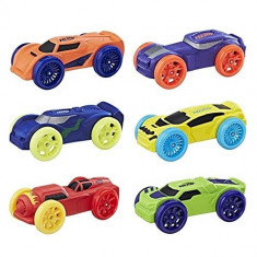 Set 6 masinute de spuma Nerf Nitro, 6-8 ani, Plastic, Hasbro