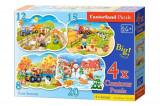 Puzzle 4 in 1 - Cele patru anotimpuri, 55 piese, castorland