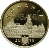 50 bani 2018 PROOF in capsula originala BNR Unirea Bucovinei cu Romania