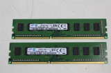 Memorii SAMSUNG kit 4GBx 2bucati= 8Gb DDR3 1600Mhz PC3-12800 - 1Rx8, DDR 3, 8 GB, Dual channel