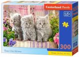 Puzzle Trei pisicute gri, 300 piese, castorland