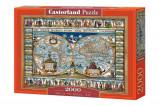 Puzzle Harta Lumii din 1639, 2000 piese, castorland