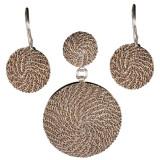 Set argint 925 Brown Circles