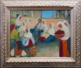 Femei la piata - semnat  Negreni '84, Peisaje, Ulei, Altul