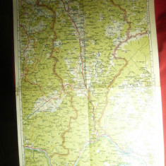 Harta Zonei Turnu-Severin 1946 ,dim.= 32x47cm ,Autor  Prof.MD Moldoveanu