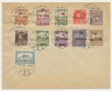 Intreg postal Ungaria 1919 cu 10 timbre sursarj local Baranya anulate la Pecs