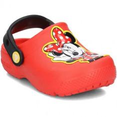 Slapi Copii Crocs Fun Lab Minnie Clog 204995FLAME, 22, 24, 25, 27 - 30, Rosu
