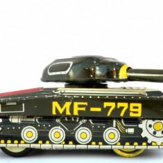 Jucarie veche din tabla fabricata in China anii '70 - '80 MF 512 - 779  Tanc
