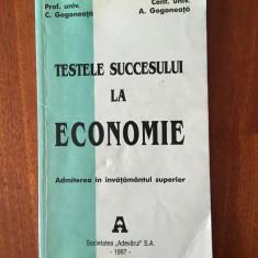 Gogoneata - Testele succesului la Economie. Admiterea in invatamantul superior