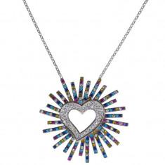 Lant argint 925 cu pandantiv Shiny Heart