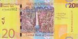 Bancnota Samoa 20 Tala (2008) - P40a UNC ( numar mic de serie )