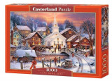 Puzzle Sat iarna - 1000 piese, castorland
