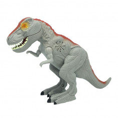 Dinozaur cu lumini si sunete Mighty Megasaur T-REX GRI Marime Medie