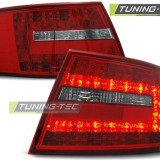 Triple AUDI A6 C6 SEDAN 04.04-08 RED WHITE LED