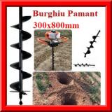 Burghiu pamant 300x800mm Foreza pamant Burghiu Manual si Motoburghiu
