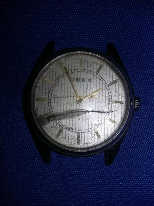 Ceas Orex vechi, 17 rubine, mecanic,ceas de mana original,Functional,Tp.GRATUIT