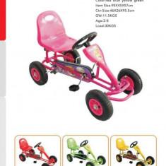 Kart copii Go Kart cu pedale,roti cauciuc F90 AC rosu