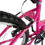Bicicleta Trekking 24 Rich R2430 cadru otel fucsia alb