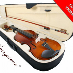 Set vioara clasica marime 4/4,  3/4,  1/2 , 1/4,1/8 Noua arcus+husa+barbie+sacaz