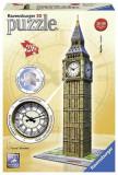 Puzzle 3D Big Ben With Clock (216 Pcs), Ravensburger