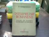 Interpretari romanesti - P.P. Panaitescu (studii de istorie economica si sociala)