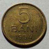 5 Bani 1954 Cu-Ni, Romania  a UNC, Cupru-Nichel