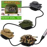 Tank cu Inductie Urmareste Linia Trasata cu Marker-ul