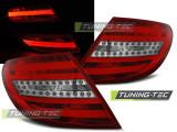 Triple MERCEDES C-KLASA W204 SEDAN 07-10 RED WHITE LED BAR