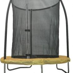 Trambulina cu suprafata elastica si plasa de protectie 183cm