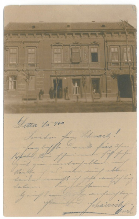 4330 - DETTA, Timis, store, Romania - old postcard - used - 1900