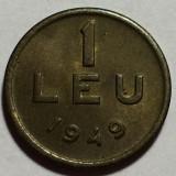 1 Leu 1949 Cu/Ni, Romania  a UNC, Cupru-Nichel