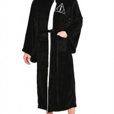 Halat De Baie Deathly Hallows Harry Potter Mens Black Fleece Robe