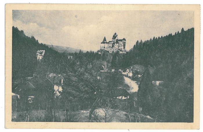 4333 - BRAN, Dracula Castle, Brasov, Romania - old postcard - used - 1938
