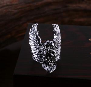 Inel masiv otel inoxidabil inel biker vulturul in zbor marimea 10